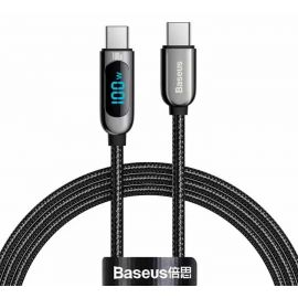 Baseus Display Fast Charging Data Cable Type-C to Type-C 100W 1m Black CATSK-B01 in Pakistan