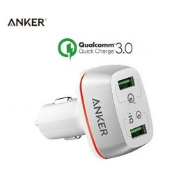Anker 100% Original A2224 PowerDrive & Quick 42W 2-Ports Car Charger