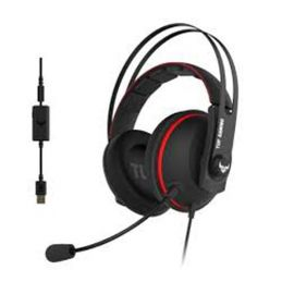 ASUS TUF Gaming H7 PC and PS4 gaming headset with onboard 7.1 virtual surround and upgraded ear cushions for eyewear comfort