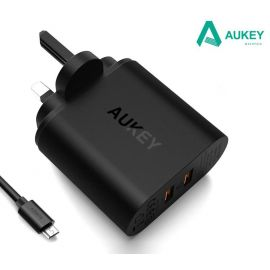 AUKEY PA-T16 Dual USB Qualcomm Quick Charge 3.0 Charger