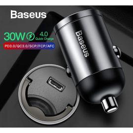 Baseus VCHXXU Quick Charge 4.0 USB C Car Charger For Huawei P30 Xiaomi Mi9 Mobile Phone QC 4.0 QC 3.0 Type C PD 3.0 Output; 30W Max