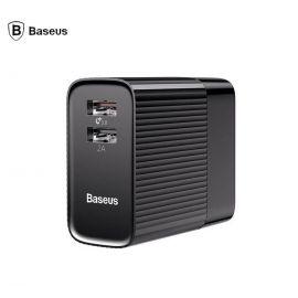 Baseus Transun Series Dual-U Foldable Wall Charger Adapter