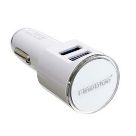 Fine Blue FUC06 Universal 2 Port USB Car Charger With Iphone USB Charging Cable 5V 3.4A