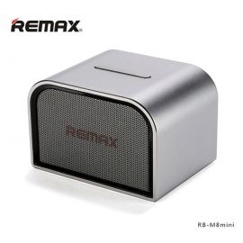 REMAX RB-M8 Aluminum Wireless Bluetooth Speakers With Mic Stereo Speaker Subwoofer AUX USB Ports