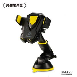 Remax RM-C26 Transformer Car Dashboard Front Glass Mobile Phone Holder - Yellow