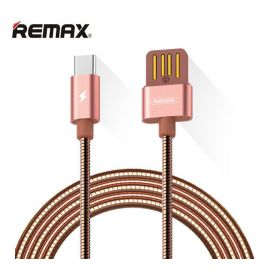 Remax RC-080a 1M USB To Type-C Data Sync Charging Cable - Rose Gold