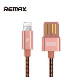 Remax Serpent Metal RC-080i Lightning 2.1A Fast Charge & Data Cable 1M - Rose Gold