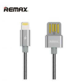 Remax Serpent Metal RC-080i Lightning 2.1A Fast Charge & Data Cable 1M - Silver