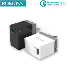 ROMOSS Power Cube Lite AC18W Qualcomm QC3.0 USB Fast Charger For Iphone & Android