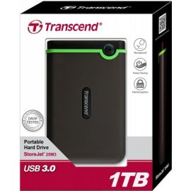Transcend External 1TB Storejet 25M3 Shockproof