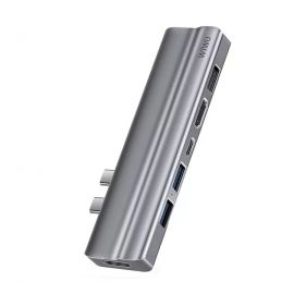 WIWU T9 Ethernet 8 in 1 5K Thunderbolt3 perfect MacBook Pro USB-C Hub Price in Pakistan
